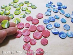 オーブン粘土でボタンのようなもの