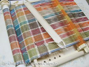 和紙の糸を織る